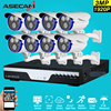Super Full HD 8CH 3MP Outdoor CCTV System Kit 8Channel Array CCTV AHD Camera System 1920P