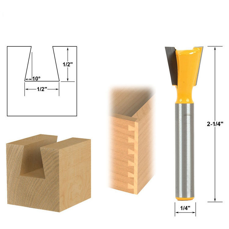 1pc 6.35mm Shank High Quality Industrial Grade Wood Cutter Dovetail Router Bits for wood Tungsten Engraving Tool Milling Cutter free shipping 10pcs 6x25mm one flute spiral cutter cnc router bits engraving tool bits cutting tools wood router bits