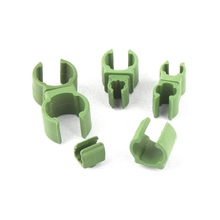 10Pairs Plastic Fastener Greenhouse Tray Bracket Pole Fixed Clamp 360 Degree Rotaring Universal Garden Claps 8mm 11mm 16mm 20mm