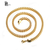 Mens Stainless Steel 6MM Wide Gold Silver Curb Link Figaro Chain Necklace