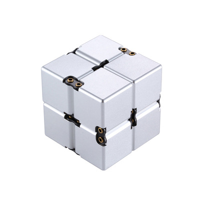 2018 New Aluminum Alloy Infinity Cube Fidget Toys Anti Stress Relieving Anxiety Relaxed Force Puzzle Game Toy For Kids Adult