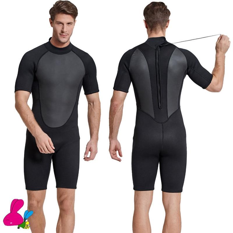 Swimwear Wetsuit Scuba-Diving-Suit Dive-Rashguard One-Piece Men 2mm Neoprene