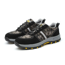 AC13012 High Quality Fashionable Black Wokplace Protection Shoes Skidproof Men Hiking Shoes Outdoor Safety Shoes Working Acecare