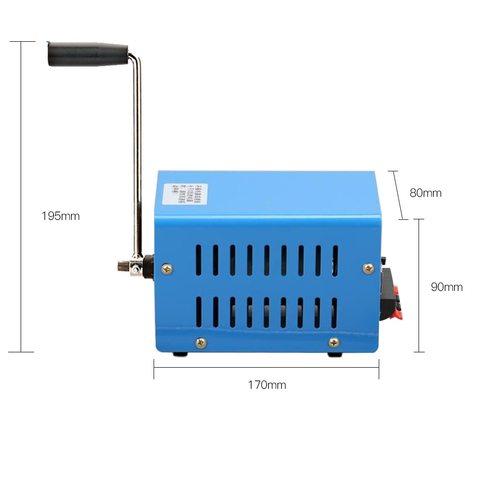20 w multi funcao portatil manivela manual gerador