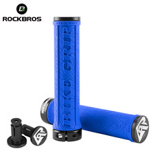ROCKBROS Bike Locking Grips Lightweight MTB Mountain Bicycle Soft Rubber Single Lock On Handlebar TPR Grips Bicycle Accessories(China)