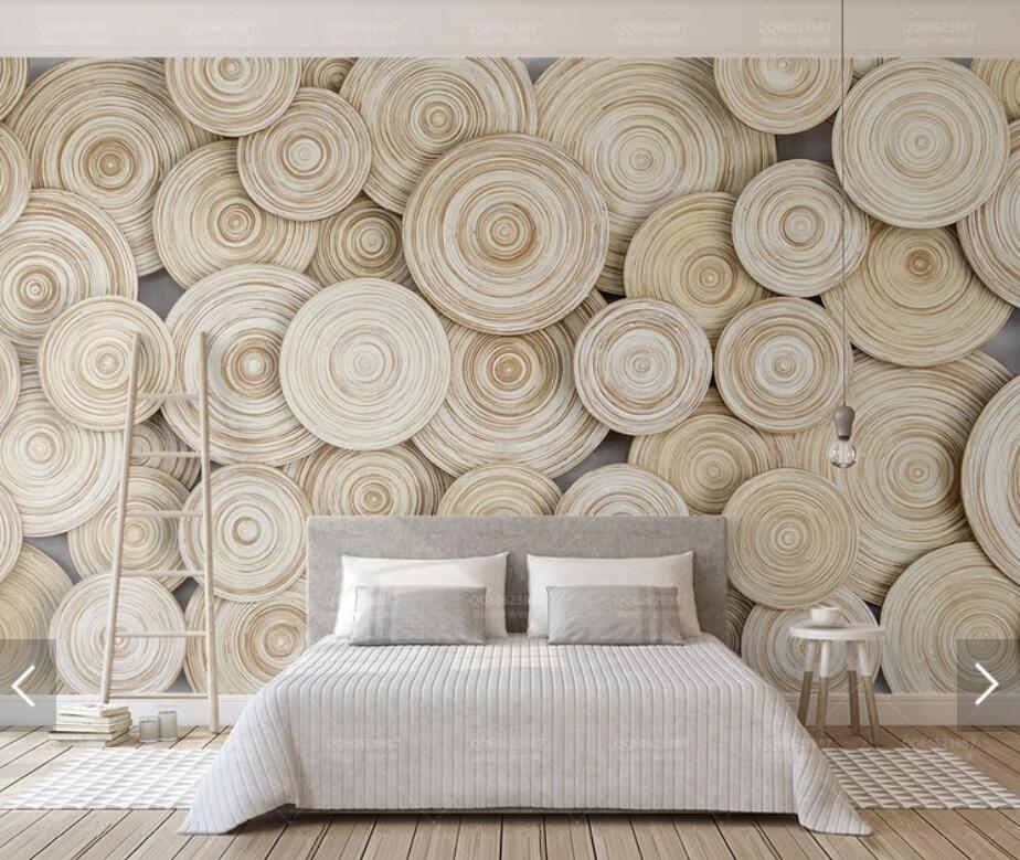 3D Annual Ring Murals Photo Wallpaper Wall Mural For Living Room Kids Bedroom Contact Paper Wall Papers Roll Canvas Mural Custom
