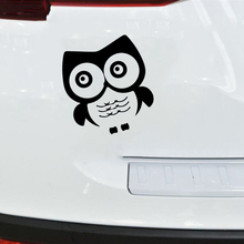 15*13.6cm Cute Funny Cartoon Animal Owl Car Sticker And Charming Vinyl Window Bumper Decal