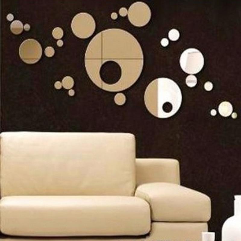 reales pegatinas de pared de acrlico d sticker calcomanas redondas crculo de punto diy espejo decoracin