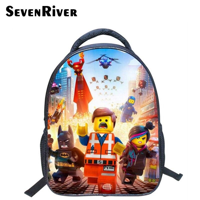 13 Inch High Quality Lego Batman Cartoon Backpack Colorful Kids Schoolbags Cool Child Student Boy School Bag