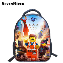 13 Inch High Quality Lego Batman Cartoon Backpack Colorful Kids Schoolbags Cool Child Student Boy School