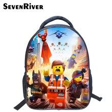 13 Pulgadas de Alta Calidad Lego Batman Mochila de Dibujos Animados de Colores Niños Mochilas Bolso de Escuela Fresco Estudiante Niño Niño