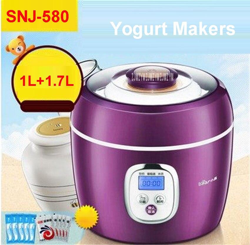 Фотография SNJ-580 220-240V High Quality Yogurt Makers Thermoregulator Multifunction Kitchen Appliance Yogurt 20W  yogurt, rice wine, wine