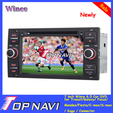 "Newest Wince 6.0 7"" Car DVD for Transit/Galaxy/Focus/Mondeo/Fiesta/C-max/S-max/Kuga/Connector with GPS BT Steer Wheel Control"