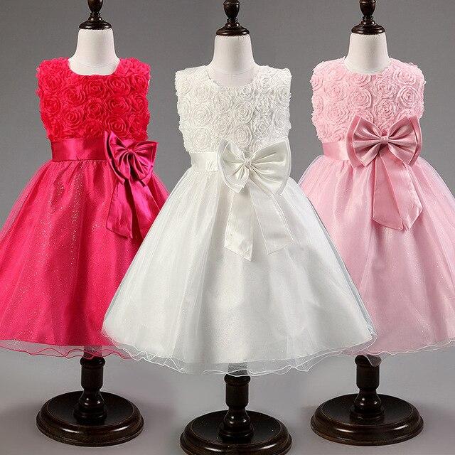 2016, лето, новый цветок принцесса платье девушки, кружева выросли Свадьбу Рождения девочки платья, Конфеты princess tutu элегантный