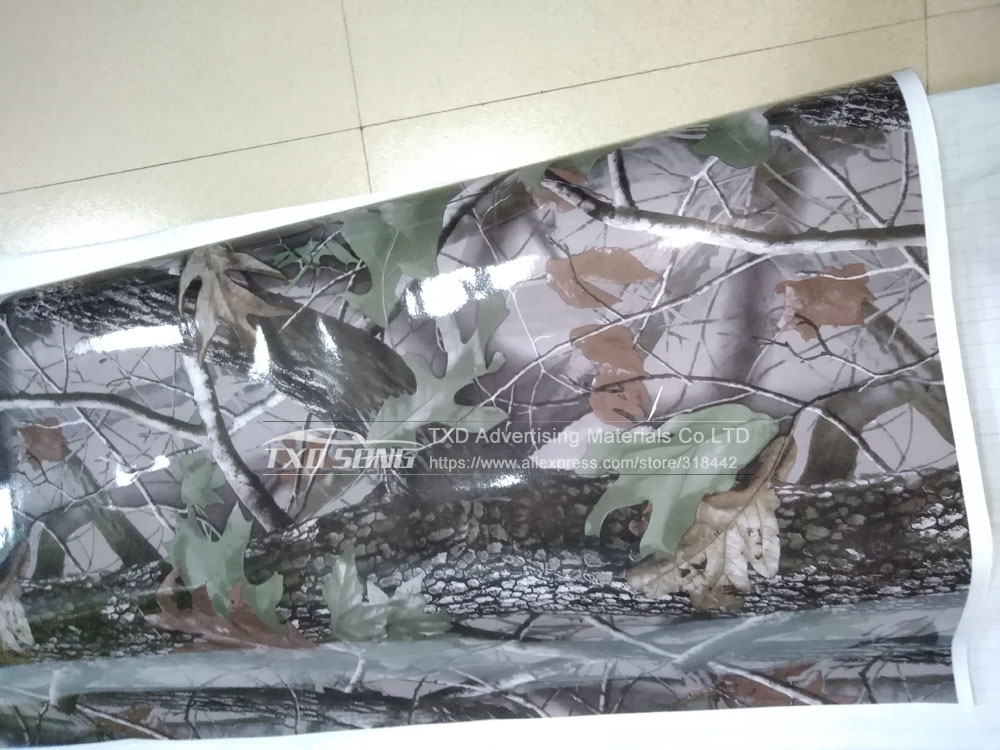 1.52MX5M/10M/15M/20M/30M/Lot Real Tree Camouflage vinyl film Digital printing Tree Camo Car sticker with air free bubbles - 5