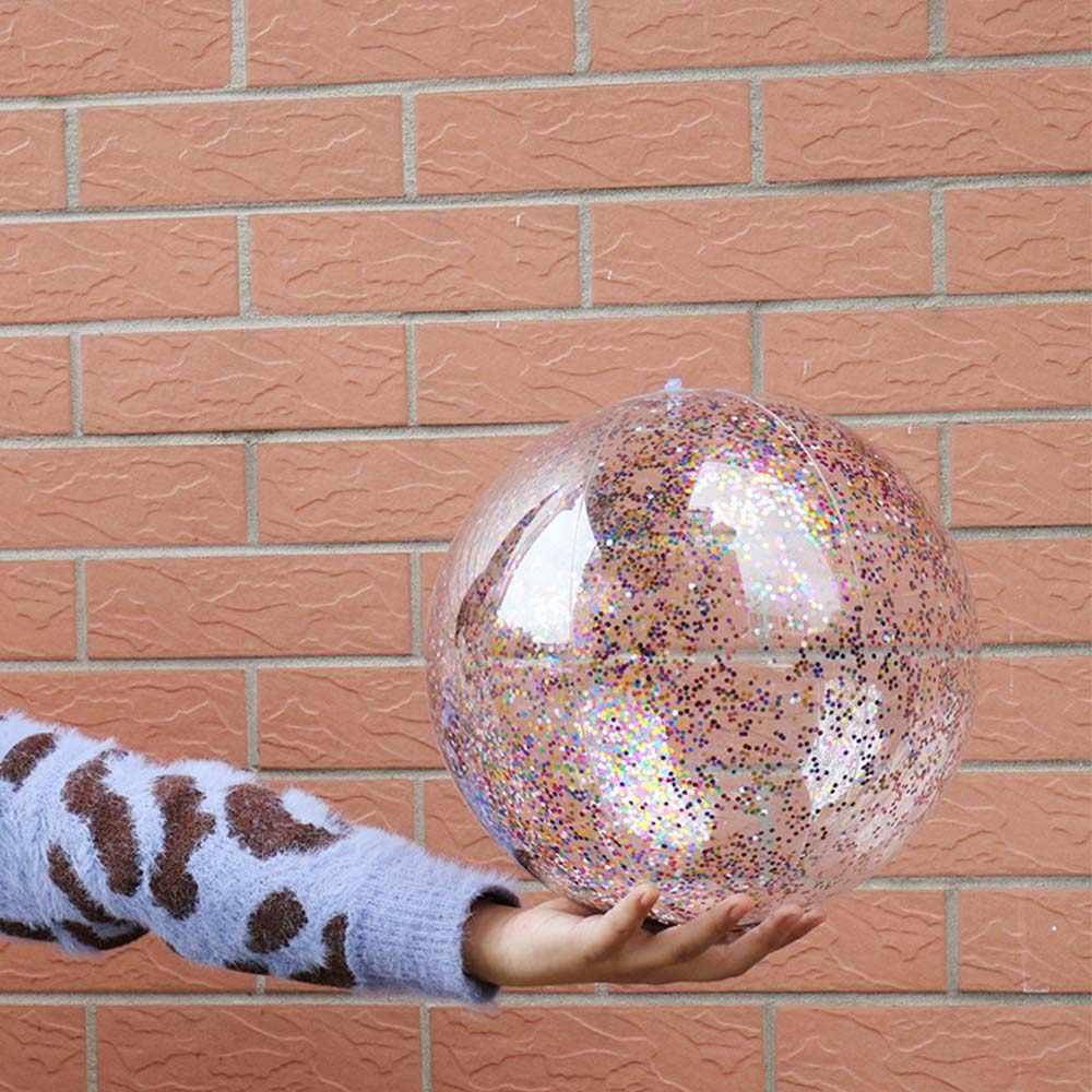 بولي كلوريد الفينيل شاطئ الكرة المستديرة نفخ الترتر داخل الأطفال بلينغ شفافة السباحة الكرة toyspool لعبة عائمة جديد