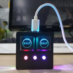 Image 1 - Clavier mécanique rétro éclairé Cherry USB 2.0 avec logiciel, bricolage OSU! Clavier de jeu pour Windows 5 touches, clavier V4