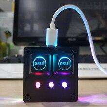 DIY USB 2.0 Backlit Cherry Mechanicalแป้นพิมพ์ซอฟต์แวร์สีดำOSU! คีย์บอร์ดV4สำหรับWindows 5คีย์