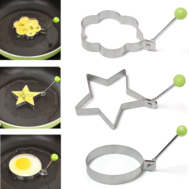Thick Stainless Steel Fried Eggs Cooking Tools Omelet Breakfast Baking  Model Egg Shaped Creative Kitchen
