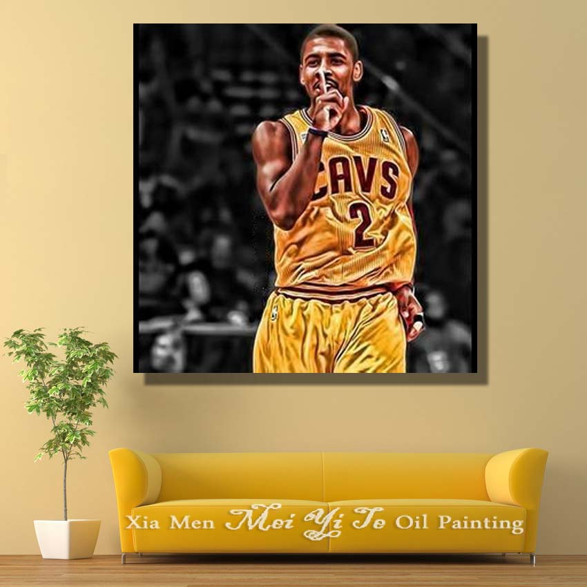 Portrait Oil Painting Basketball Star Pop Art Painting Large Canvas ...