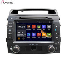 "Topnavi 8 ""octa Core 2 GB RAM Android 6.0 car Radios estéreo GPS para Toyota Land Cruiser DVD Audio jugador"