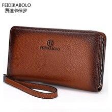 FD BOLO Brand Bag Men clutch Bags Monederos Carteras Mujer Luxury Male Leather Purse Men's Clutch Wallets Handy Bags Man Wallets