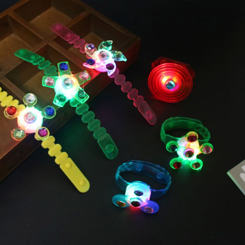 Fidget Spinner Light Up Watch Stress Relief Fidget Toys Supplies Party Favors