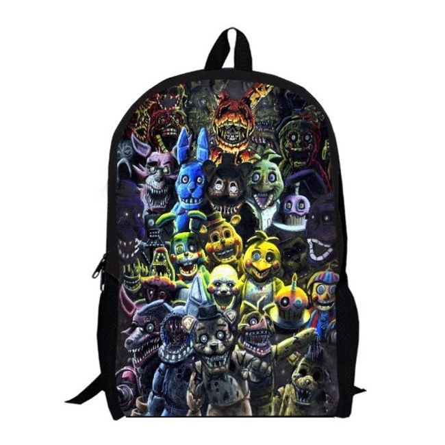 16 Inch Backpacks Five Nights At Freddy's Fnaf Schoolbag Backpack Kid Double Layer Bag Fashion Casual Travel Laptop Bagpack Bags