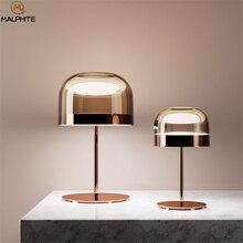 Скандинавский стеклянный Грибная настольная лампа для спальни стол для ночника современный Декор Гостиная для стола светло-розовый светильник