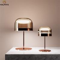 Nordic Glass Mushroom Table Lamp For Bedroom Bedside Lamp Table Modern Decor Living Room For Table Light Rose Luminaire