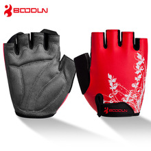 BOODUN Men Women's Cycling Gloves Half Finger Breathable Soft Shockproof Road Mountain Bike Gloves Outdoor Sports Bicycle Gloves цена