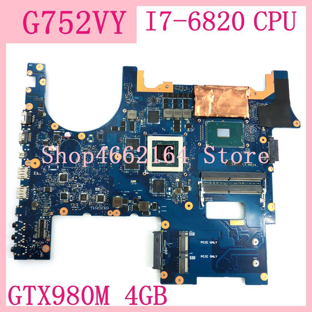 G752VY MB 0M I7 6820HK AS GTX980M 4GB Motherboard For Asus ROG G752V G752VY G752VT G752VS