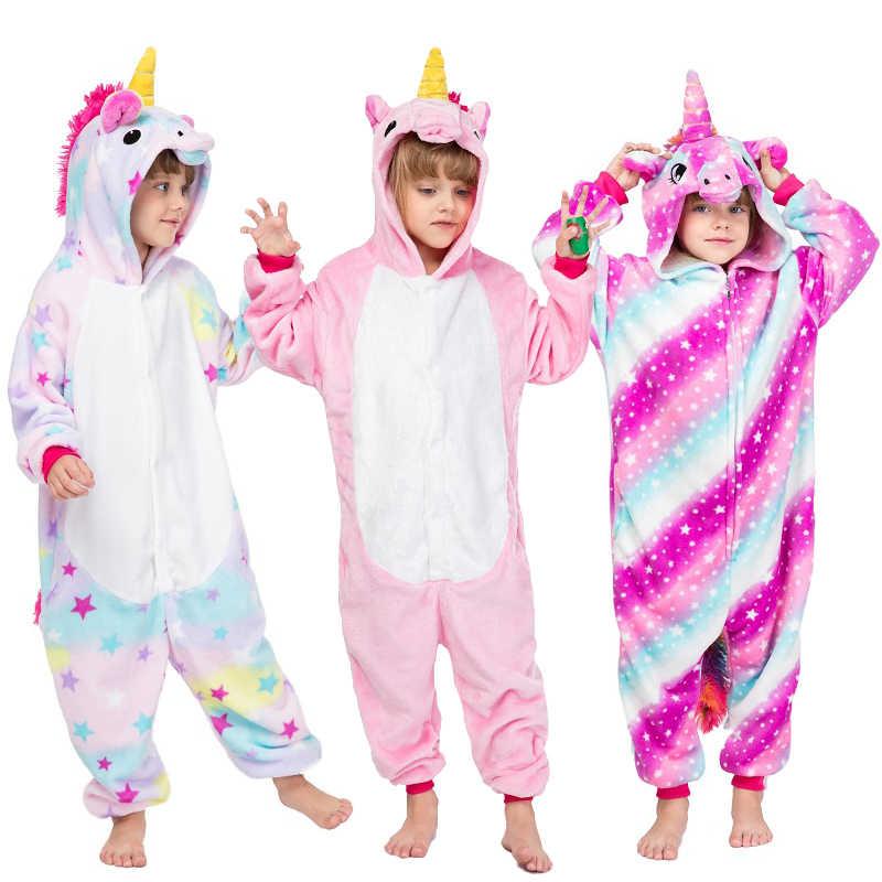 Рождественская зимняя детская Фланелевая пижама с капюшоном Pegasus синяя Пижама  с единорогом для девочек мальчиковая Пижама 61fa5a3140ca5