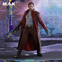 1/6 Scale 1/6 Star Lord Action Figure Full Set HT MMS421 Hot Toys Collection Deluxe Versio Hot Toys Collections