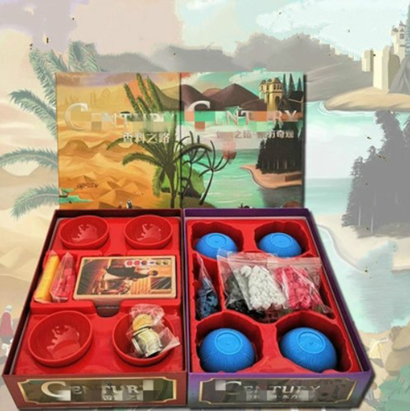 High Quality Century with Bowls Board Game spice road /Eastern Wonders 2 5 Players Funny Game Indoor Entertainment