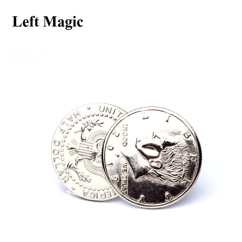 Special Magnetic Flipper Coin Butterfly Coin Magic Tricks ( Made Of Half Dollar Copy  ) Money Magic Accessories Close Up Tricks