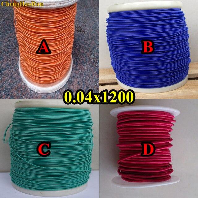 ChengHaoRan 1 m 0.04X1200 aandelen zijn hoge frequentie geluid strengen orange zijde envelop litz draad rode orange blauw groen
