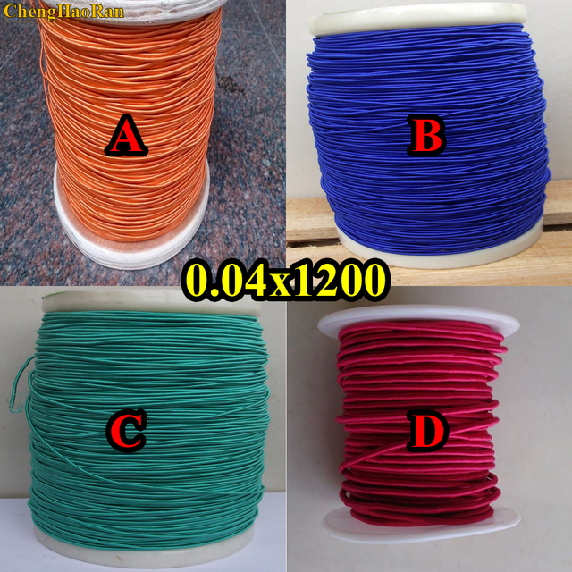 ChengHaoRan 1 m 0.04X1200 condivide il suono ad alta frequenza fili orange busta di seta filo litz rosso orange blu verde