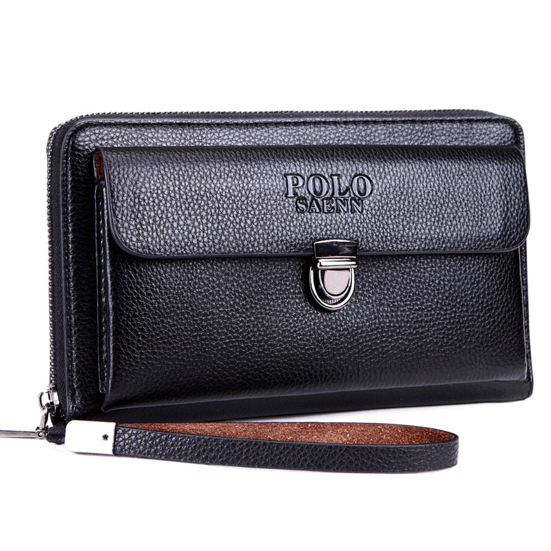 POLO Business Men's Leather Wallets High Quality Men's Clutch Wallets Carteiras Billeteras Mujer Clutch Man Handy Bags