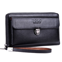 SAENNPOLO Business Men's Leather   Wallets   High Quality Men's Clutch   Wallets   Carteiras Billeteras Mujer Clutch Man Handy Bags