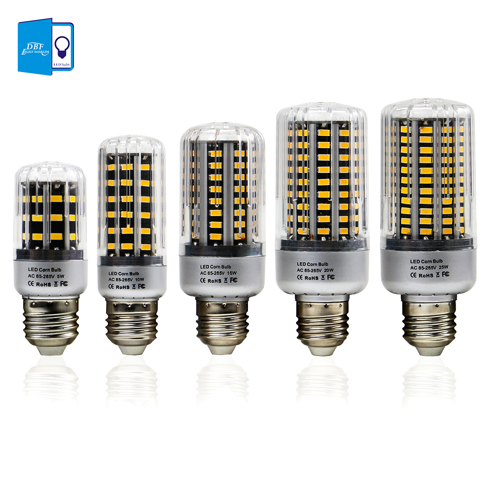 [DBF] No Flicker E27 E14 LED Lamp E27 SMD 5736 LED Corn Bulb 85-265v 5w 10w 15w 20w 25w LED Corn Light For Home Spotlight e12 e14 e27 5w 10w 15w 20w 25w smd5736 85 265v spiral super bright led corn bulbs lighting energy saving lamps