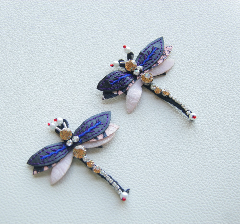 Small Size Beads: 10pcs Small Size Beaded Diamond Blue Dragonfly High