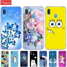 Case For Samsung A40 Soft Silicon Back Cover Phone Galaxy GalaxyA40 A 40 A405 SM-A405F A405F Cartoon