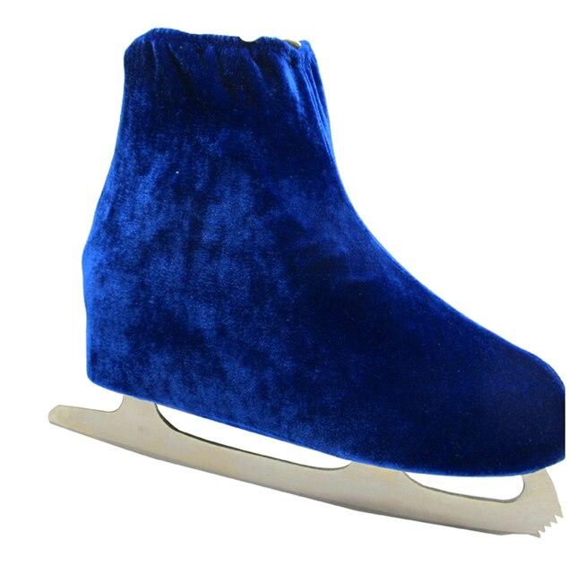 1 pair Ice Skating Figure Skating Shoes Velvet Cover Roller Skate Anti Dirty Flannelette Elastic For Kids Adult Anti Grinding 4