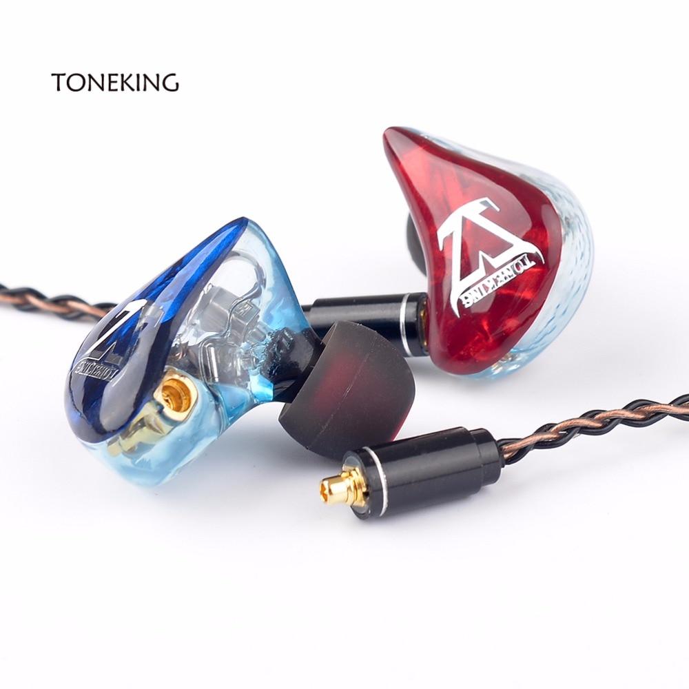 TONEKING T3 3BA sur mesure bricolage dans l'oreille écouteur 3 Armature équilibrée HIFI moniteur écouteurs MMCX 8-Core cuivre argent mixte câble