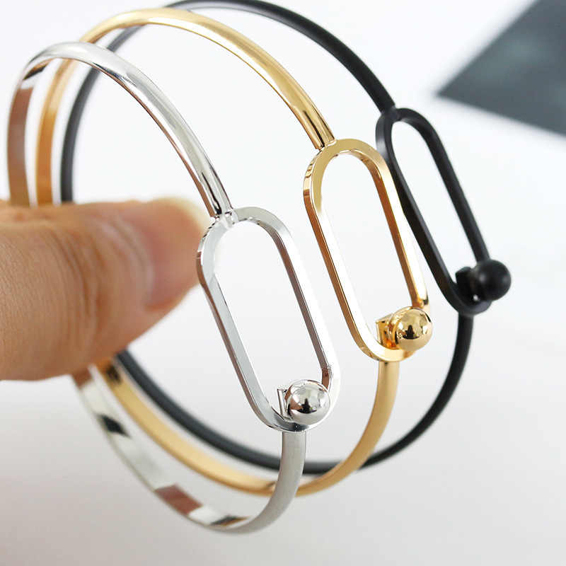 2018 Fashion New Design Geometric Open Bangle For Women Men 3 Colors Punk Simple Adjustable Cuff Bracelet Bangle Gifts Jewelry