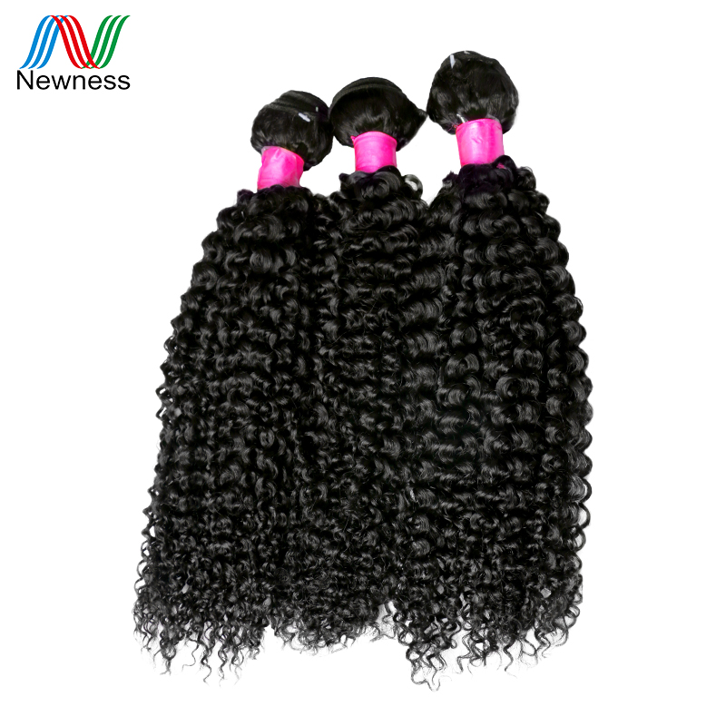 Newness Hair Malaysian Kinky Curly Hair Weave 3 Bundles Deal Natural Color 100% Malaysian Curly Hair Extensions 12-30 inch