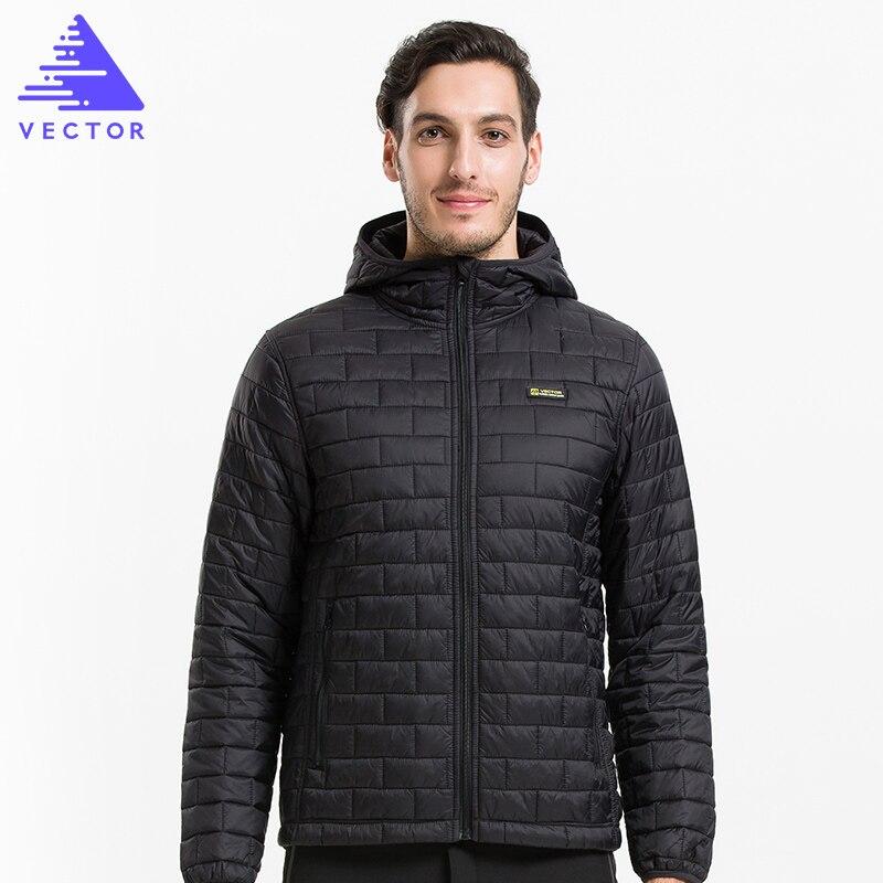 VECTOR Ultralight Mens Down Cotton Jackets Warm Autumn & Winter Overcoats Windproof Waterproof Camping Hiking Jacket 60029