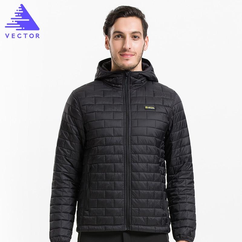 VEKTÖR Ultralight Erkek Aşağı Pamuk Ceketler Sıcak Sonbahar & Kış Pardesü Windproof Su Geçirmez Kamp Yürüyüş Ceket 60029