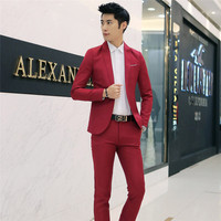 Brand Mens Suits Slim Fit Wedding Groom Tuxedos Suit Classic Male Suit Colbert Jasje Mannen